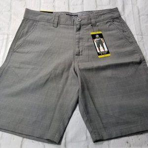 Hang Ten Mens Stretch Walkshorts Grey Sz 32